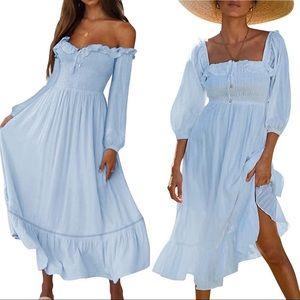 Dresses & Skirts - Blue smocked dress😍